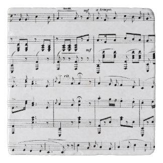 White Sheet Music Trivet