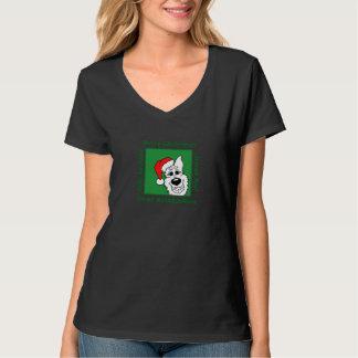 White Shepherd Christmas T-Shirt