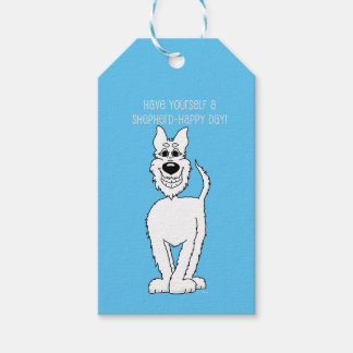 White shepherd dog Smile Gift Tags