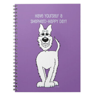 White shepherd dog Smile Notebook