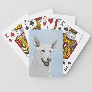 White Shepherd Playing Cards