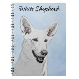 White Shepherd Spiral Notebook