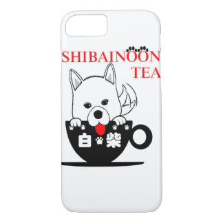 White Shibe Inu margin lawn iPhone 8/7 Case