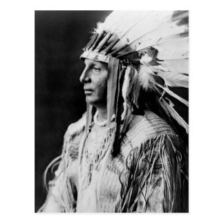 White Shield - Arikara Native American Indian Postcard