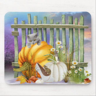 White Shoe Lost in the Pumpkin Patch Mouse Pad