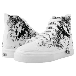 white shoes with lion design