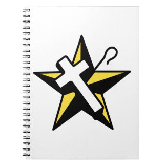 WHITE SHRINE OF JERUSALEM SPIRAL NOTE BOOK