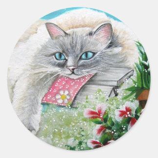 White Siamese Cat Sticker