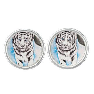 White Siberian Tiger Sow Cufflinks
