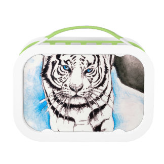 White Siberian Tiger Sow Lunch Box