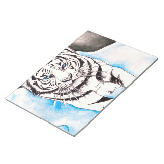 White Siberian Tiger Sow Notepad