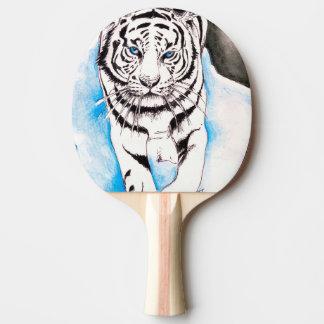 White Siberian Tiger Sow Ping Pong Paddle