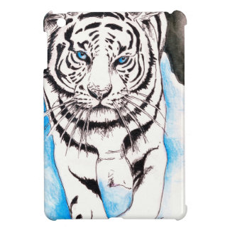 White Siberian Tiger Winter Case For The iPad Mini