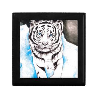 White Siberian Tiger Winter Gift Box