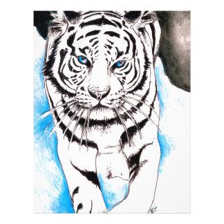 White Siberian Tiger Winter Letterhead