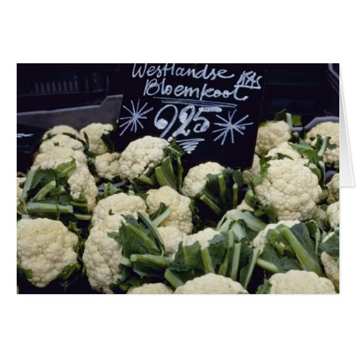 white Sign With Produce flowers Greeting Cards