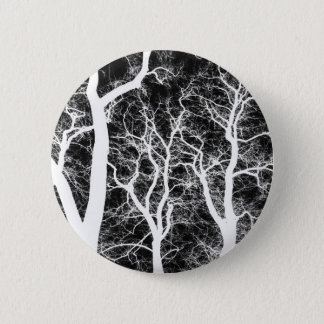 White Silhouetted Trees 2 Inch Round Button