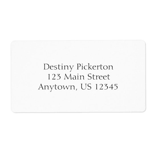 White Simple Plain Shipping Labels