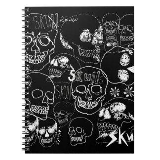 White Sketchbook Skulls Notebook