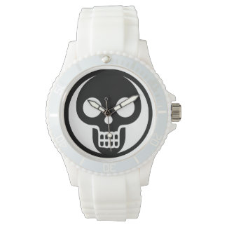 White Skull Watch