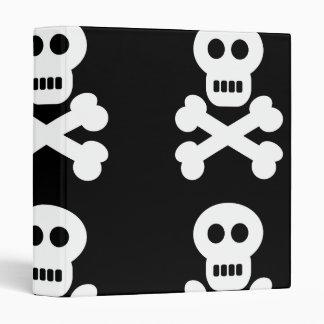White Skulls 3 Ring Binder