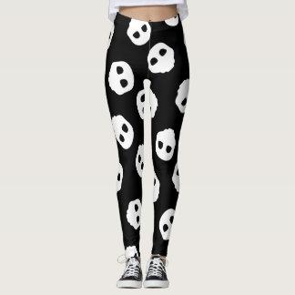 White Skulls Nu Goth Gothic Alternative Catacomb Leggings