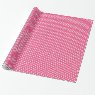 White Skulls on Pink Wrapping Paper