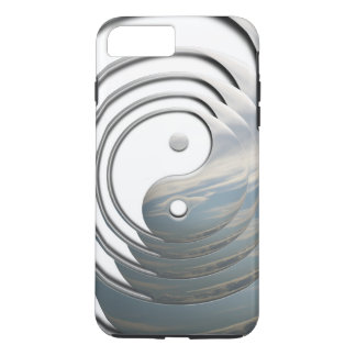 White Sky Yin Yang iPhone 7 Plus Case
