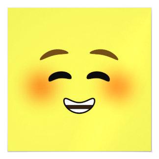 White Smiling Emoji Magnetic Invitations