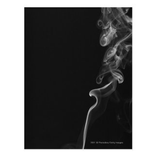 White Smoke Against A Black Background Postcard