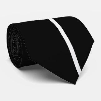White Smoke Thin Vertical Line on Black Tie