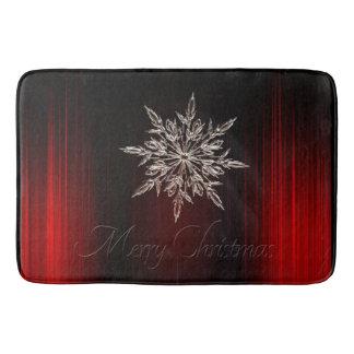 White snow bath mat