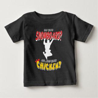 WHITE SNOWBOARD CHICKEN 2 BABY T-Shirt