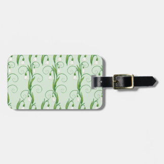 White Snowdrop Flowers Luggage Tag