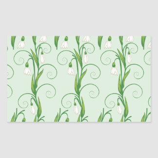 White Snowdrop Flowers Sticker