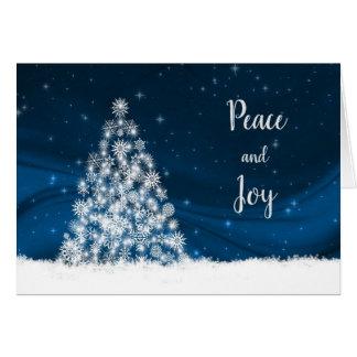 White Snowflake Christmas Tree Card