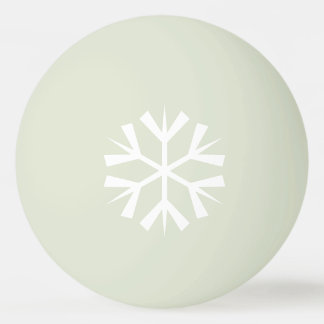 White Snowflake Design on Glow-in-the-Dark Ping Pong Ball