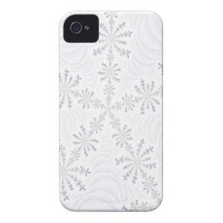 White Snowflake Fractal iPhone 4 Case