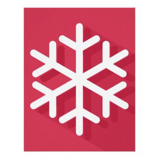 White Snowflake Custom Letterhead