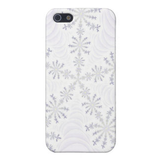 White Snowflakes Fractal  iPhone 4/4S Case