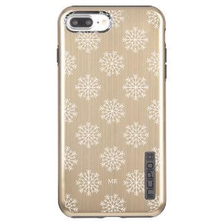 White Snowflakes Monogram Incipio DualPro Shine iPhone 8 Plus/7 Plus Case