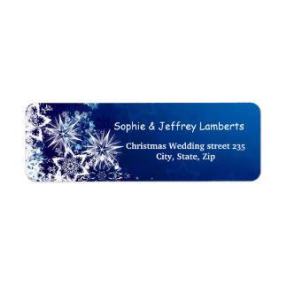 White snowflakes on blue Christmas