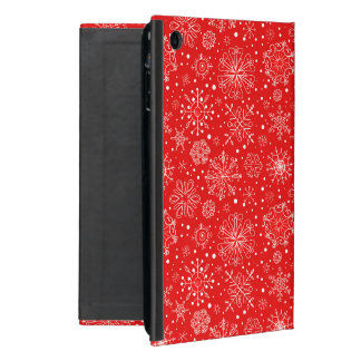 White Snowflakes on Christmas Red Case For iPad Mini