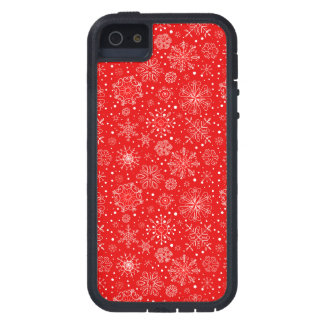 White Snowflakes on Christmas Red Case For The iPhone 5