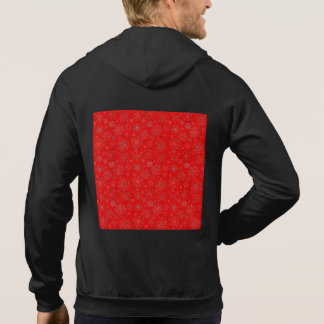 White Snowflakes on Christmas Red Hoodie