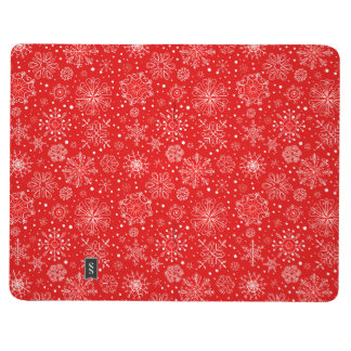 White Snowflakes on Christmas Red Journals