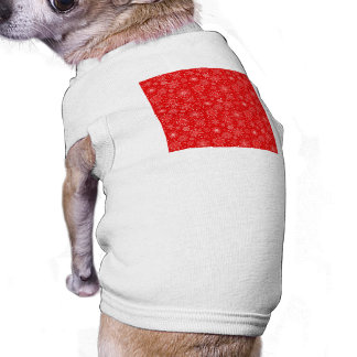 White Snowflakes on Christmas Red Pet Clothing