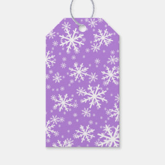 White Snowflakes on Lavender Purple Pack Of Gift Tags