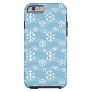 White snowflakes pattern tough iPhone 6 case