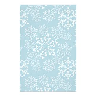 White Snowflakes Custom Stationery